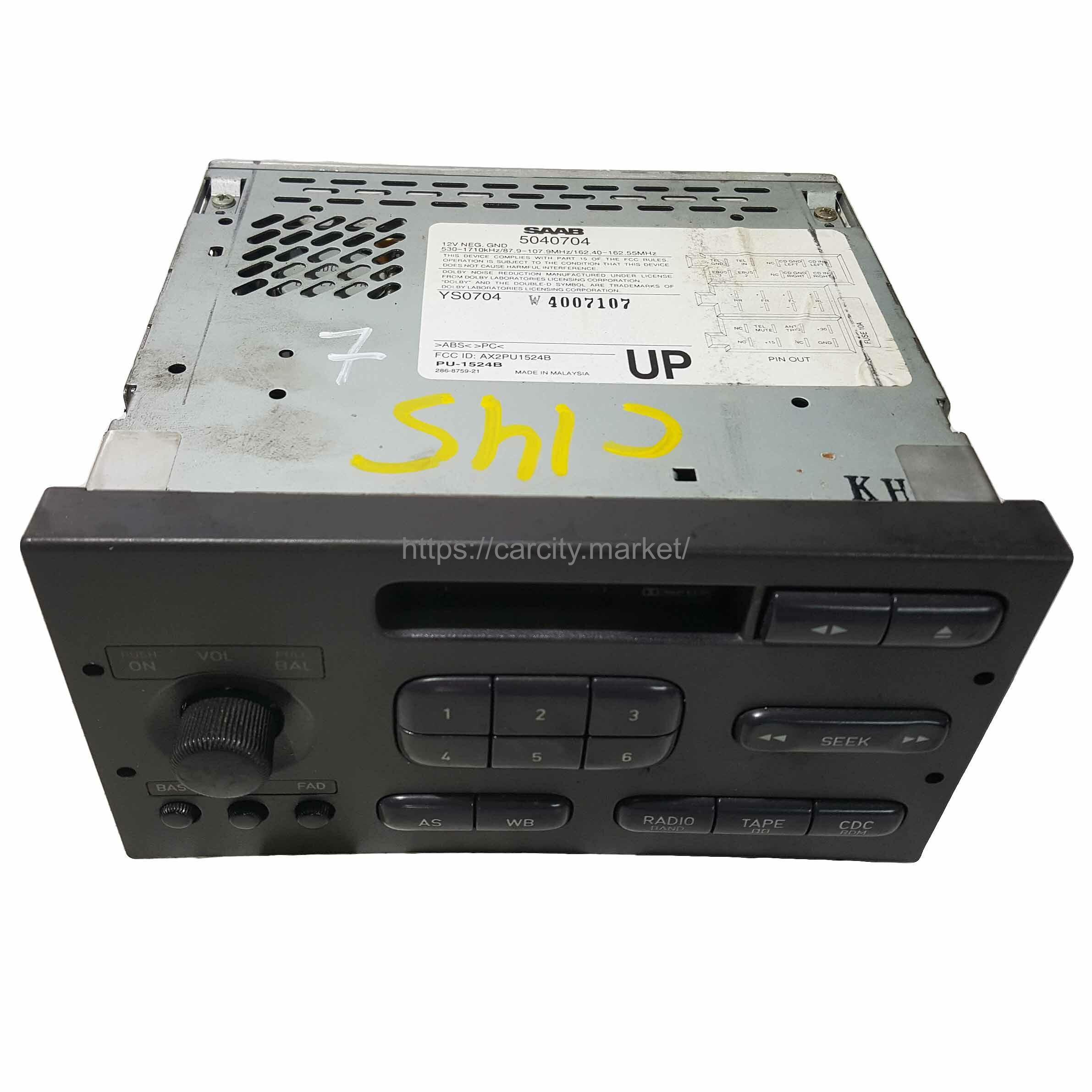 Радио с кассетой SAAB 9-3 1998-2003г купить в Карсти Маркет
