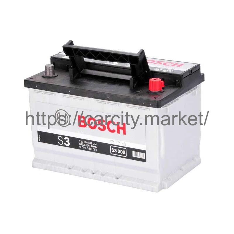 Аккумулятор BOSCH S3 008 12V 70Ah 640A купить в Карсти Маркет